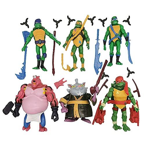 Ninja Turtles 6 PCS Set TMNT Action Figures - Ninja Turtles Action Figures Teenage Set
