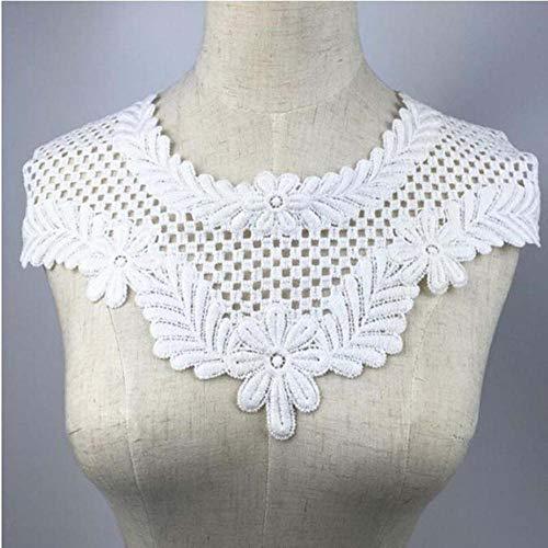 DACCU 1st White Fine Venise Lace stoffen jurk applicatie blouse naaiboord DIY hals kraag kostuum decoratie accessoires BW044