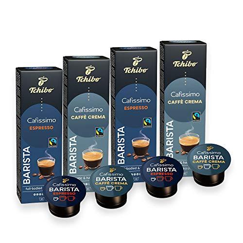 Probierset Tchibo Cafissimo Barista Espresso und Caffè Crema Kapseln, 40 Stück