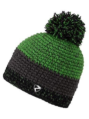 Ziener Erwachsene INTERCONTINENTAL hat Bommel-mütze/ warm, gehäkelt, Spring Green, Usex