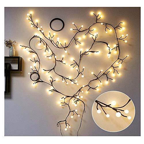 Aluvee Globe String Lights, 72 Bulbs 8 Modes Plug-in Globe Decorative Bedroom Christmas Window Garden Wedding Birthday Party Warm White Starry Fairy Plug String Lighting