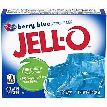 JELLO Berry Blue Gelatin Dessert Mix 3 Ounce Box  3