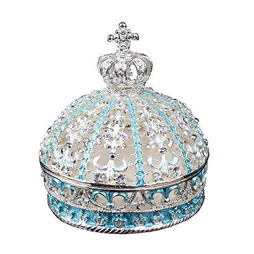 JLXQL Crystal bejeweled crown jewelry jewelry box treasure box ring holder