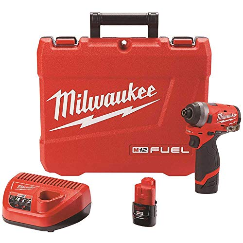 Milwaukee Electric Tools 2553-22 M12 Fuel 1/4' Hex Impact Driver Ki