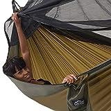 Mosquitera Hamaca Paño paracaídas al Aire Libre Ejército Tienda de campaña para Acampar Individual Doble Viaje Supervivencia Caza Cama para Dormir Portátil, Doble 300X200 Cm