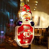 導かれた吸盤の窓の掛かるライト、党の家の寝室のクリスマスの装飾の贈り物のためのクリスマスの照明付きの窓の装飾(バッテリーなし) (C)
