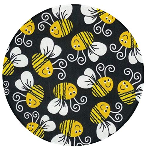 NiYoung Best Play Mat Carpet for Kids Room Decorations & Teepee Tent Bumblebee 16 Inch Indoor Area Rug Non-Slip Round Mat for Bedroom Living Room Kitchen Nursery and More