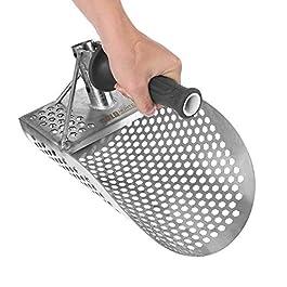 Faderr Pelle à sable pour détection de métaux, détecteur de métaux en acier inoxydable, pelle à sable sous-marine avec…