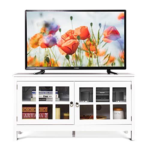 COSTWAY Mueble para TV,Consola Universal para TV de Pantalla Plana con Puertas...
