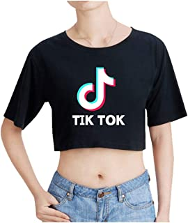 Crop Top Camiseta de Manga Corta Summer TIK TOK Estampada Corte Tops Blusa Hip Hop Pullover Casual para Mujer Hombre C00605TX131XXL: Amazon.es: Ropa y accesorios