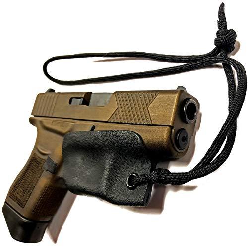 Skydas Gear Glock 43X, 43 42 48 Kydex Trigger Guard Holster Pistol Lanyard Rip-Away Pocket IWB Paracord
