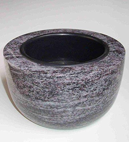 designgrab Coupe funéraire moderne - Diamètre : 25 cm - En granit Orion Blue/Vizac Blue