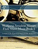 Wolfgang Amadeus Mozart Flute Sheet-Music Book 1 Sonate 1,3, Concerto in C/G/D, Andante