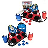 Skip NN' Hole Game Set - 8 Skipping Stonnes, 4 Water Weight Bags, 2 Boards, Carry Bag - Game for The Pool, Lake, Ocean, River, and Pond