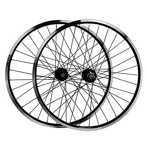 ZPPZYE Ruedas de Bicicleta MTB 26' 27,5 Pulgadas 29er, Pared Doble Aleación de Aluminio Freno En V Ruedas de Ciclismo 32 Hoyos Compatible 7-12 Velocidades (Color : Black, Size : 29 Inch)