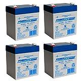 Power Sonic PS-1250 12V 5AH SLA Battery 12 Volt F2 Terminal - 4 Pack