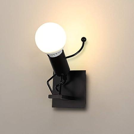 Applique Murale Interieur LED, Moderne Lampe Murale, E27 Vintage en Métal Lampe pour Salon Chambre Hall Escalier Pathway