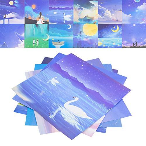 Papel para papiroflexia 60 hojas Papel de Origami Papel Origami Hecho a Mano Papel de Origami Plegable DIY Papel de Origami de Doble Cara para Proyectos de Arte y Artesanía 15x15cm