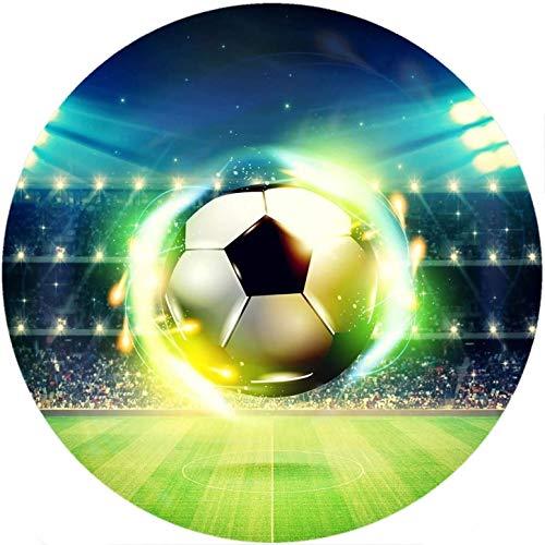 Fußball Thema-2 Runde Tortenaufleger 20CM - Geburtstag Tortenbild Zuckerbild Tortenplatte Oblate Kuchenzuckerplatte