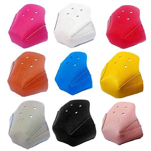 Breale 1 Paar Anti-Reibung Rollschuh-Zehenschutzkappen aus PU-Leder mit 4 Löchern für Rollschuh-zubehör