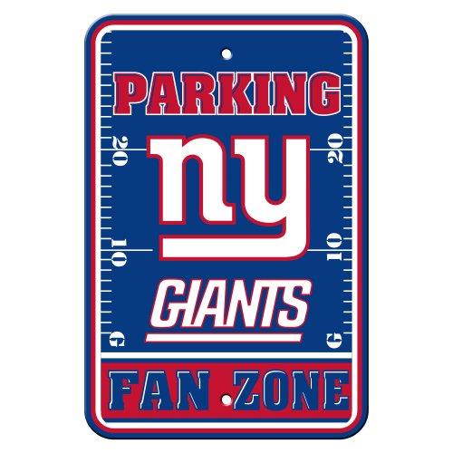 Fremont Die NFL New York Giants Plastique Parking Sign