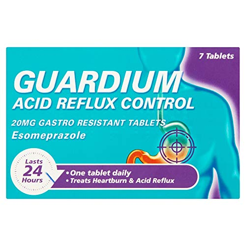 GUARDIUM Tablets Heartburn and Acid Reflux Control by Gaviscon, Pack of 7