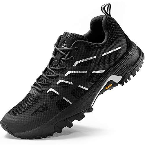Wantdo Men's Sport Athletic Running Walking Shoes Runner Jogging Footwear Black 11 M US