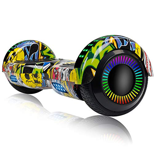 EPCTEK 6.5 Hoverboard for Kids Adults - UL2272 Certified Self Balancing Hover Board w/Bluetooth Speakers, LED Light