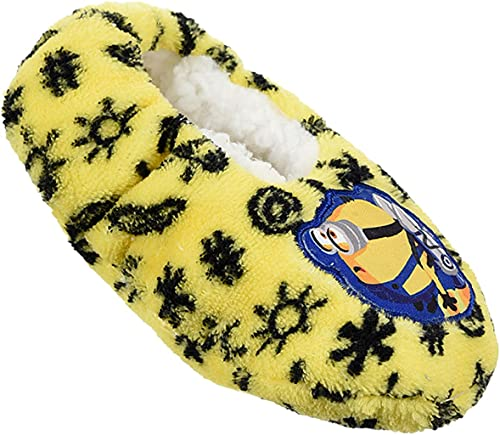 Minions - Pantofole in peluche 'Minions Banana' con piedini antiscivolo, Giallo (giallo.), 29 EU