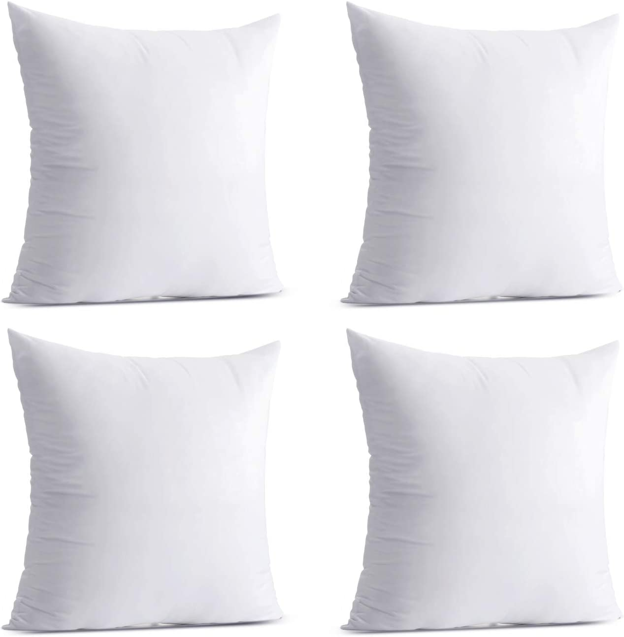 Calibrate Timing Throw Pillow Inserts, 4 Packs Hypoallergenic Sq