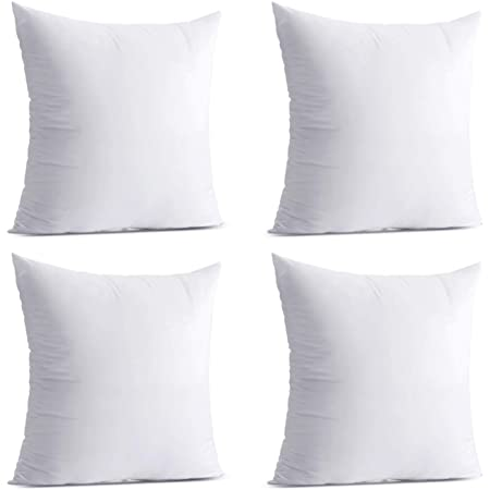 Amazon Com Utopia Bedding Throw Pillows Insert Pack Of 4 White 18 X 18 Inches Bed And Couch Pillows Indoor Decorative Pillows Home Kitchen