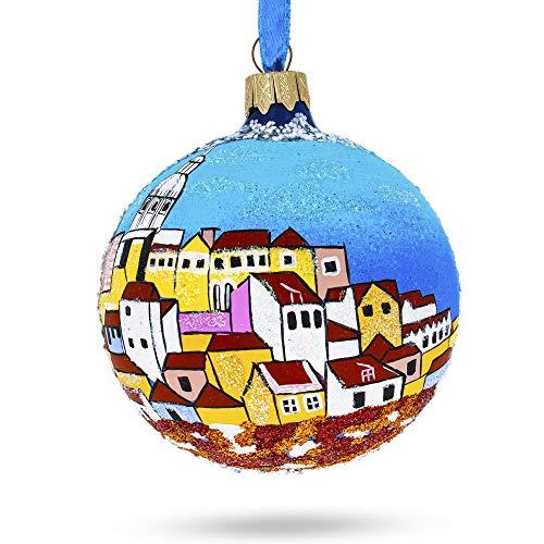 BestPysanky Alfama, Lisbon, Portugal Glass Ball Christmas Ornament