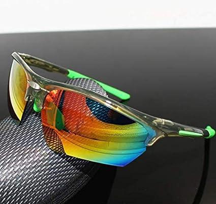 SKLLA Polarizado Gafas Ciclismo, TR90 Material, Apto para Bicicletas de montaña, Correr, Subir, al Aire Libre, a Prueba de Viento, Arena y Sol,Transparent Gray and Green