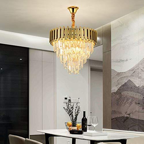 SYyshyin Lámpara De Araña De Cristal For Restaurante, Ambiente De Lujo, Lámpara De Salón LED Redonda, Accesorios De Iluminación Creativos For Dormitorio, Comedor Moderno