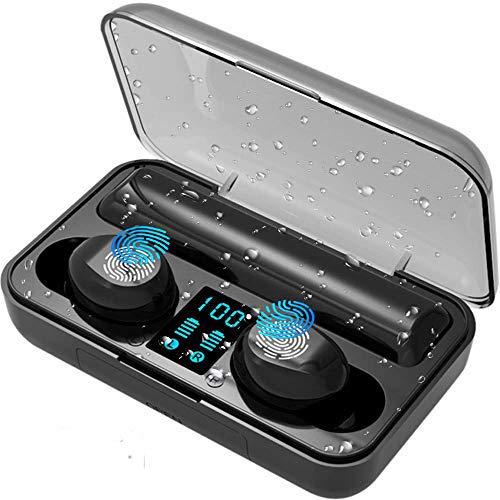 LTPAG Auricolari Bluetooth 5.0, TWS Auricolari Bluetooth Hi-Fi Stereo Auricolare Wireless Sport con Mini In Ear IPX8 Impermeabile - Riduzione del Rumore Scatola di Ricarica Portatile per iPhone iOS