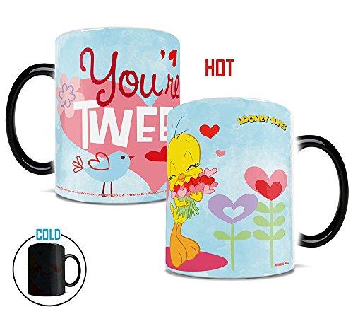 Morphing Mugs Looney Tunes Tweety Bird You're Tweet Valentines Day Heat Reveal Ceramic Coffee Mug - 11 Ounces