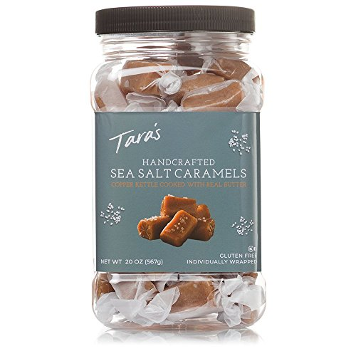 Taras All Natural Handcrafted Gourmet Sea Salt Caramel: Small Batch, Kettle Cooked, Creamy & Individually Wrapped - 20 Ounce