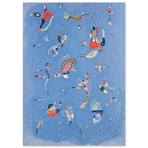 JUNIWORDS Poster, Wassily Kandinsky, Himmelblau, 80 x 110 cm