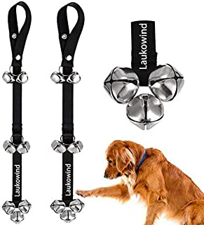 2 Pack Dog Doorbell for Potty Training Puppy - Laukowind Doggie Doorbell with Extra Loud Bells