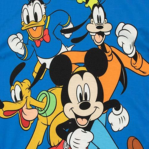 Disney Pigiama a Maniche Corta per Ragazzi Mickey Mouse Verde 2-3 Anni