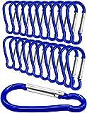 Outdoor Saxx® - 20 piezas Mini Mosquetón, mosquetón de aluminio, mosquetón en S, gancho de...