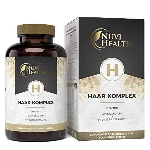 Haar Vitamine - 180 Kapseln - Premium Komplex mit D-Biotin, Hirseextrakt, Bambusextrakt, N-acetyl-cystein, Selen, Zink & B-Vitaminen - Vegan - Hochdosiert - Laborgeprüft