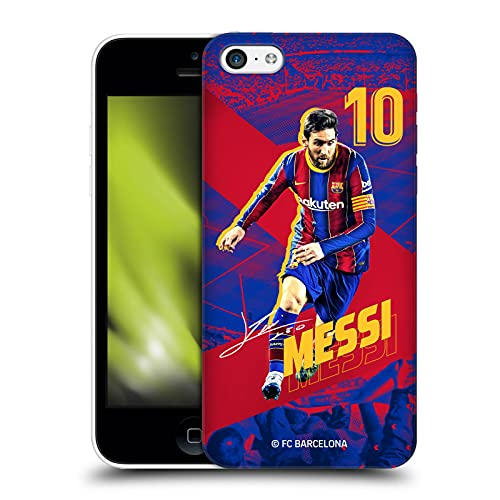Head Case Designs Officially Licensed FC Barcelona Lionel Messi 2020/21 First Team Group 1 Hard Back Case Compatible with Apple iPhone 5c