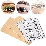 Piel de práctica de tatuaje de silicona, práctica de cejas de tatuaje, delineador de ojos, labios de cejas, herramienta de entrenamiento de microblading para tatuaje, maquillaje permanente