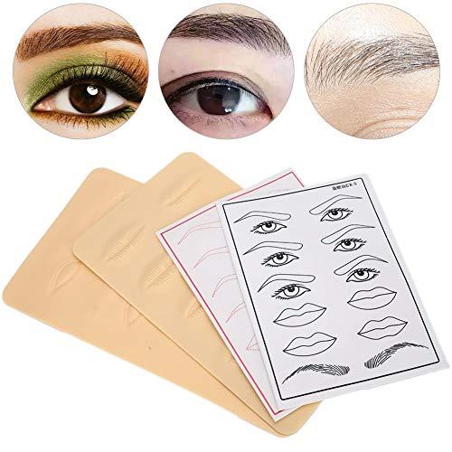 Silicone tatouage pratique peau eyeliner sourcils et lèvres tatouage micro-slip formation outil fournitures de tatouage tatouage formation outil adapté pour les débutants