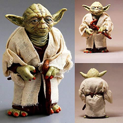 Homejuan 7-Zoll-Star Wars Dc Meister Yoda Echt Kleidung Action-Figur Modell Puppe Spielzeug Für Kinder Geschenke A