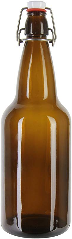 E C Kraus Ez Cap Beer Bottles Amber 16 Oz
