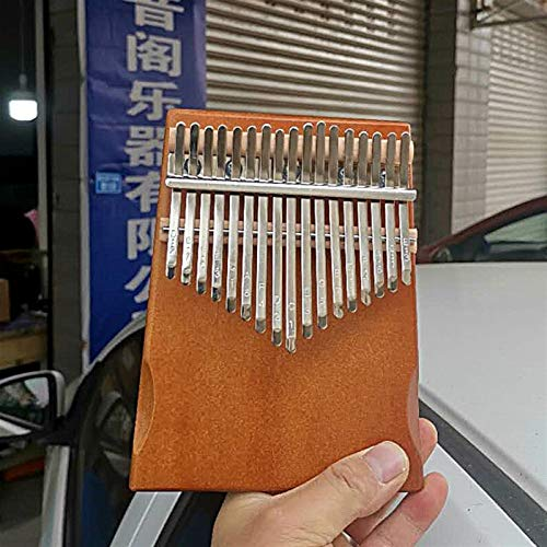 Kalimba, Daumenklavier 17 Tasten Kalimba Daumenklavier Mahagoni Anfänger afrikanische Kalimba Musikinstrument mit Zubehör-Anweisungen Stimmhammer (Color : Brown nude piano)