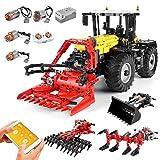 HZYM Technique Tracteur Maquette, 2596 Pièces 4in1 2.4G Telecommande Tracteur Construire, Jeu de Construction Compatible avec Lego Technic