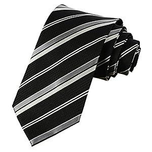 KissTies Mens Necktie Classic Stripe Ties For Men